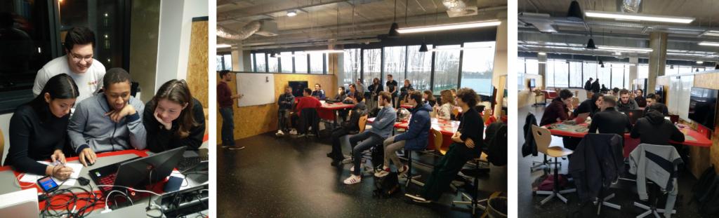 Les étudiants du CESI Nanterre, École d'Ingénieurs Informatique, en action pour le Hackathon sur les valeurs en immobilier professionnel pour SNAPKEY